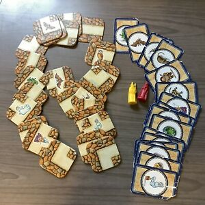 Labyrinth Game by Ravensburger Pieces Red Yellow Path and Cards Miscellaneous