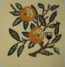 Beth Russell Fruit collection orange completed needlepoint canvas