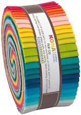 "LARGE Jelly Roll 40 strips 2.5"" x 42"" - Kona Cotton Solids Designer Palette"
