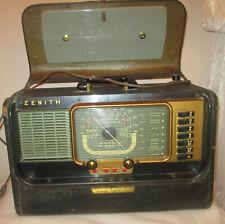 Zenith Wavemagnet Transoceanic Radio Model H500 Non Working 1940'S