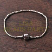HOT High Quality 1pcs 18CM European Charm Metal Clasp Bracelet Chain Silver