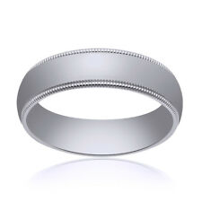 Comfort Fit Wedding Band 4.0mm 14K White Gold