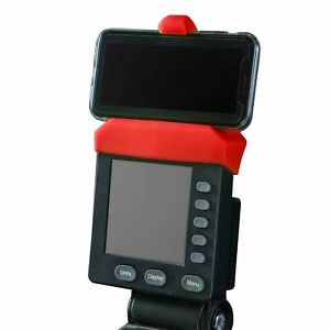 Red Phone Holder Made for Concept 2 Rowing Machine, SkiErg and BikeErg. Made of