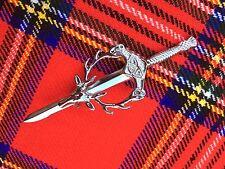 """CC Scottish Kilt Pins Stag Head 4"""" Chrome Finish/Celtic Sword Kilt Pin/kilt Pins"""