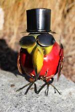 Wunderschön und originell Rabe mit Brille und Hut Oberfläche Airbrush verziert