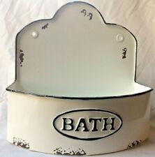 Rustic Bowed Bath Wall Caddy