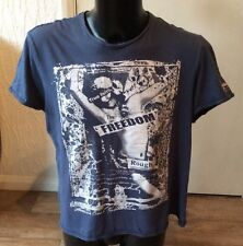 """blue graphic t-shirt The true calling Size XL Approx 44"""" Chest"""
