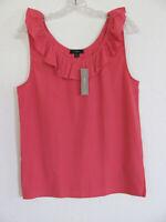 J.CREW Women/'s Mercantile TISSUE TANK top BRIGHT PAPAYA Shirt NEW JO662  Sz M