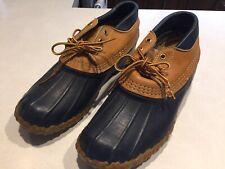 VTG 90s LL Bean Duck Maine Hunting Low Shoe Boots Gum Shoe Maine USA Women 9 m