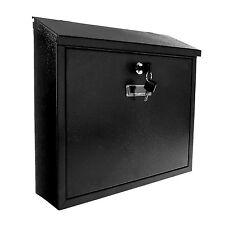 Il MIO CARITà Boxes-parete casella di posta con serratura impermeabile Heavy Duty BLACK