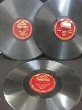 "THREE ENRICO CARUSO VICTROLA 88002, 88061,89066-12"", 1 SIDE, 78 RPM"