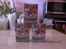lot of (3) Walmart Exclusive 2018 Bowman Platinum Blaster Box
