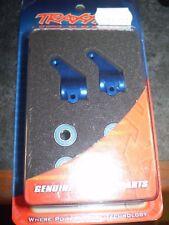 Traxxas 3636A  Aluminum Steering Blocks Blue (l&r) NEW NIP