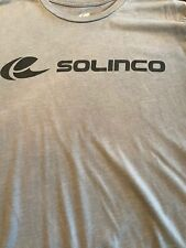 Solinco Tennis Team Grey  T-Shirt Size: US Medium