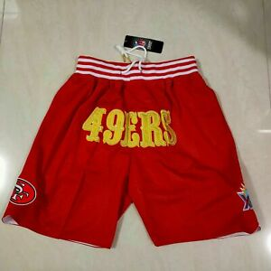 New Hot sale San Francisco 49ers Men's with Pockets Shorts Red Size: S-XXL
