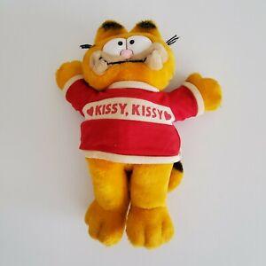 """Vintage Garfield 1981 Kissy Kissy Plush Stuffed Toy Animal Cat 12"""" Tall"""