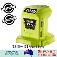Ryobi One+ 18V USB Power Adapter - 2x USB Sockets - Takes All One+ Batteries