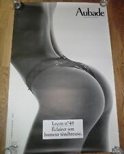 AUBADE Advertising Poster 93cm x 63cm Sexy Lingerie Nude, Lesson Leçon nº 48