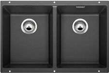 NEW Blanco SUB350350UK5 Undermount Double Kitchen Sink Anthracite Black