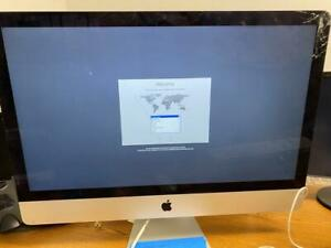 "iMac 27"" i7 3.4ghz i7 16GB 1TB Late 2012 A1419 - working cracked display"