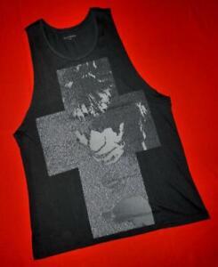 """All Saints """"Lyric Raw Arm Vest"""" Black T-Shirt Top Vest Size S Small"""