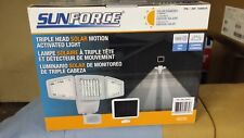 NEW SunForce Triple Head Solar Motion Activated Light 180 LED 1500 Lumens