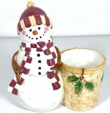 Yankee Candle Votive Holder Snowman Christmas Ceramic