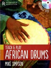 Teach & Play African Drums Book with DVD Mike Simpson Djembe Dunon Riq Darbouka