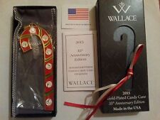 "Wallace Candy Cane 2015 ""SLEIGH BELL"" Christmas ornament 35th in series complete"