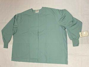 Adar Medical Nursing Workwear Uniform Long Sleeve Warm Up Scrub Jacket Green 5XL