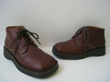 FRYE HOBART LACE BROWN LEATHER ANKLE BOOT WOMEN SIZE US 7M GREAT