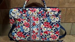"""Vera Bradley 17"""" Floral Laptop Carrying Case with Adjustable Strap"""