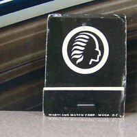 Vintage Matchbook Cover V5 Silver Spring Maryland Indian Country Club Golf Head
