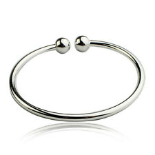 Wholesale 925 Silver Bangle Bracelet fashion jewelry Girl Party Gift