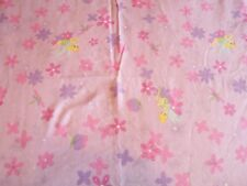Disney Home Tinker Bell Full Size Flat Sheet Pink Purple Floral