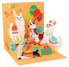 Llamas Happy Birthday Pop-Up Card | Keepsake | Cards for Kids Boys or Girls