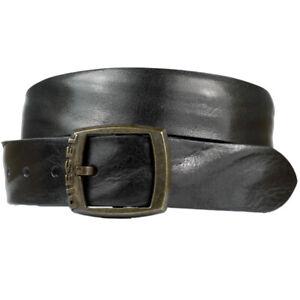 Diesel Belt Bibuff Belt Leather Black Unisex New