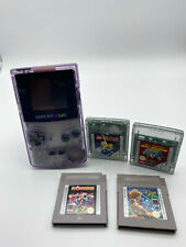 Nintendo Game Boy Color Konsole Lila Transparent CGB-001 + 4 Spiele Klassiker
