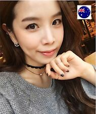 Women Lady Lace trendy 2 double layers pearl fine Choker Punk Short Necklace