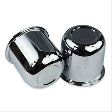 (2) - RV Trailer Camper Wheel Cover Cap Push Thru closed Chrome Plated  2.95""