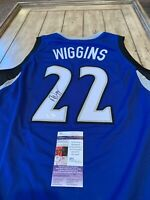 Andrew Wiggins Autographed/Signed Jersey JSA COA Minnesota Timberwolves