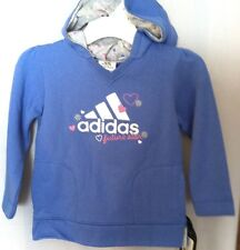 New with tags Girls Adidas FUTURE STAR Hoodie blue silver w/ hearts size sz 6