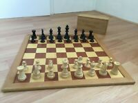 ♟Chess Set and Board Wooden♟ Homas Board Staunton Pieces Made in France in Box
