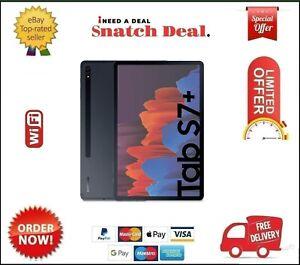 SAMSUNG GALAXY TAB S7 PLUS SM-T970 128GB+6GB RAM WIFI MYSTIC BLACK NO S-PEN