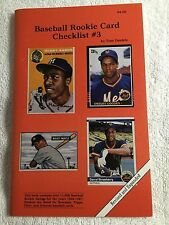 Brand New - 1987 - Baseball Rookie Card Checklist #3 by Tom Daniels