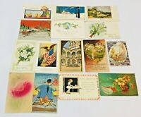 Vintage Postcard Lot Holidays Christmas Easter Valentines Birthday Early 1900s