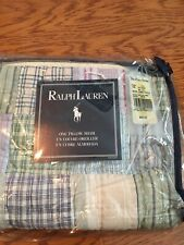 Ralph Lauren Prairie Madras Plaid Cotton Patchwork Standard Standard Sham New