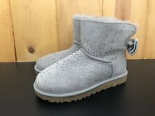 NEW Women's Sz. 8 UGG STARGIRL BOW MINI 1098475 SEAL EXCLUSIVE AUTHENTIC BOOTS