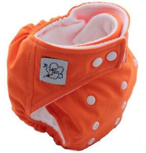 1 PCS Orange Baby Reusable Confortable Washable Nappies Cloth Diaper Nappy