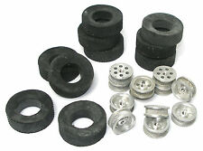 5pr TRADESHIP 1/24 1/32 Slot Car 5/40 ALUMINUM WHEEL +DIAMOND TREAD AL-5 TIRES